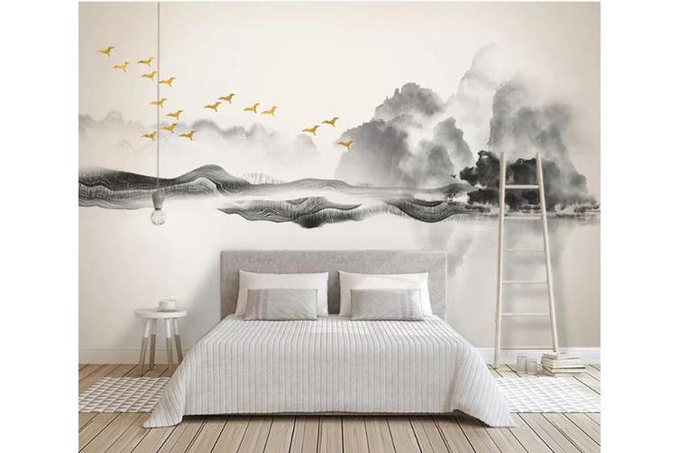 3D Misty Valley 927 Wall Murals Self-adhesive Vinyl, XL 208cm x 146cm (WxH)(82''x58'')
