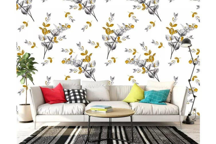 3D Flower 925 Wall Murals Woven paper (need glue), XXL 312cm x 219cm (WxH)(123''x87'')