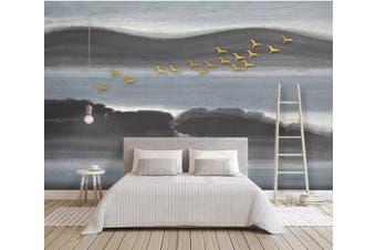 3D Golden Bird 923 Wall Murals Woven paper (need glue), XXXXL 520cm x 290cm (WxH)(205''x114'')