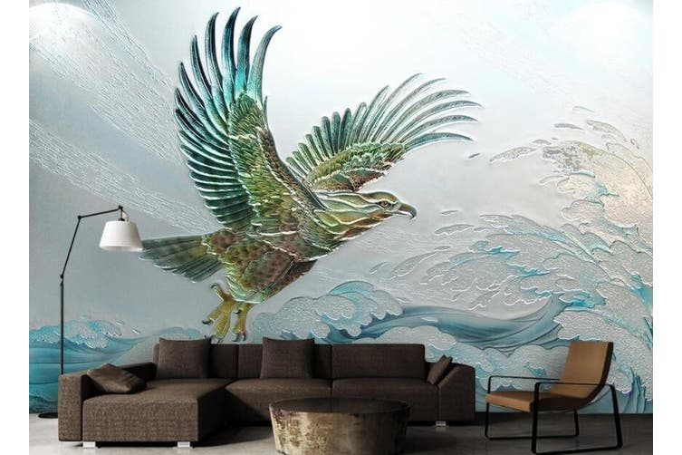 3D Eagle Spreading Wings 922 Wall Murals Woven paper (need glue), XL 208cm x 146cm (WxH)(82''x58'')