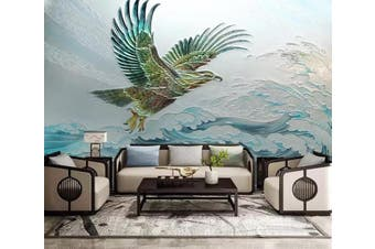 3D Eagle Spreading Wings 922 Wall Murals Woven paper (need glue), XXL 312cm x 219cm (WxH)(123''x87'')