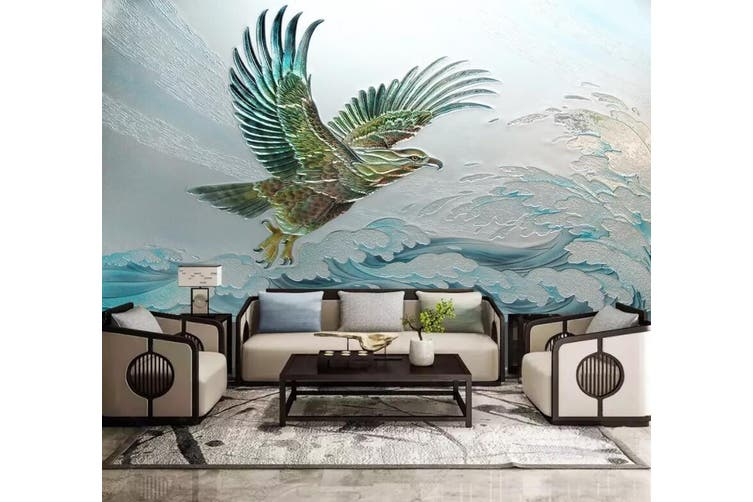 3D Eagle Spreading Wings 922 Wall Murals Woven paper (need glue), XXXL 416cm x 254cm (WxH)(164''x100'')