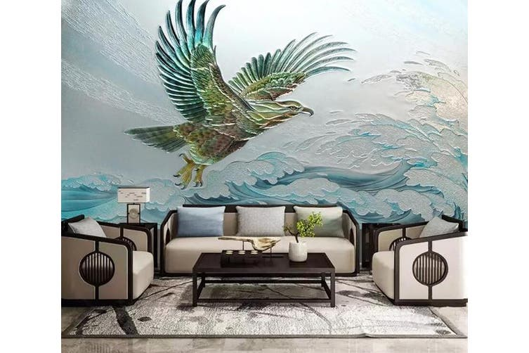3D Eagle Spreading Wings 922 Wall Murals Woven paper (need glue), XXXXL 520cm x 290cm (WxH)(205''x114'')