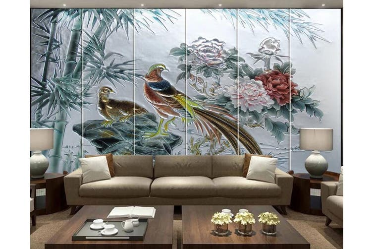 3D Birds And Flowers 921 Wall Murals Self-adhesive Vinyl, XL 208cm x 146cm (WxH)(82''x58'')