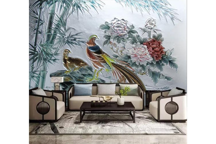 3D Birds And Flowers 921 Wall Murals Self-adhesive Vinyl, XXXXL 520cm x 290cm (WxH)(205''x114'')