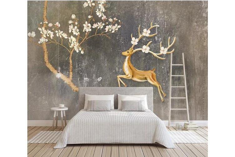 3D Sika Deer 920 Wall Murals Woven paper (need glue), XXXL 416cm x 254cm (WxH)(164''x100'')