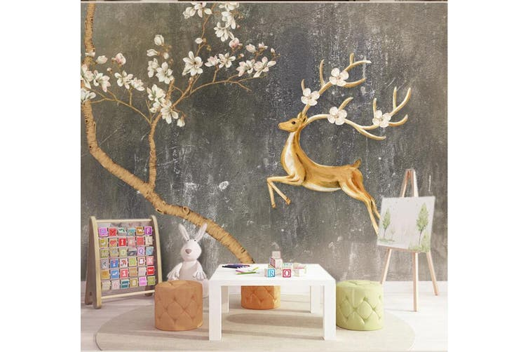 3D Sika Deer 920 Wall Murals Self-adhesive Vinyl, XXXL 416cm x 254cm (WxH)(164''x100'')