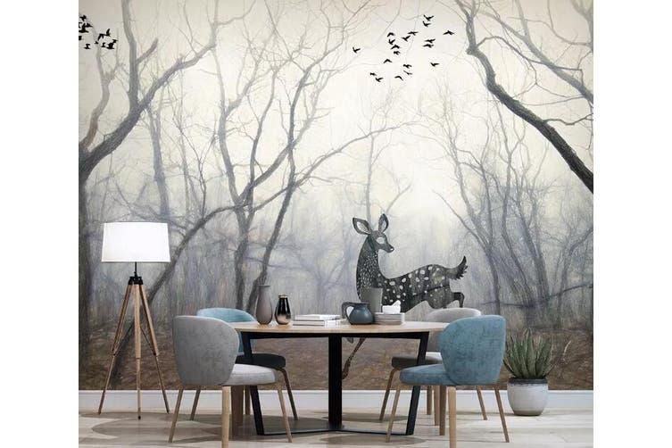 3D Woods Deer 918 Wall Murals Self-adhesive Vinyl, XXL 312cm x 219cm (WxH)(123''x87'')