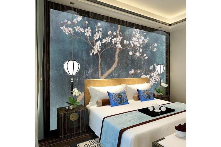3D Branch Flower 916 Wall Murals Woven paper (need glue), XL 208cm x 146cm (WxH)(82''x58'')