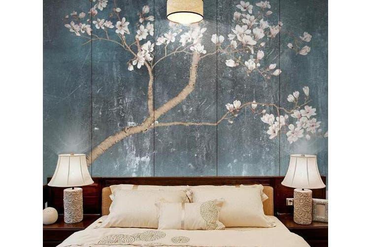 3D Branch Flower 916 Wall Murals Woven paper (need glue), XXXL 416cm x 254cm (WxH)(164''x100'')