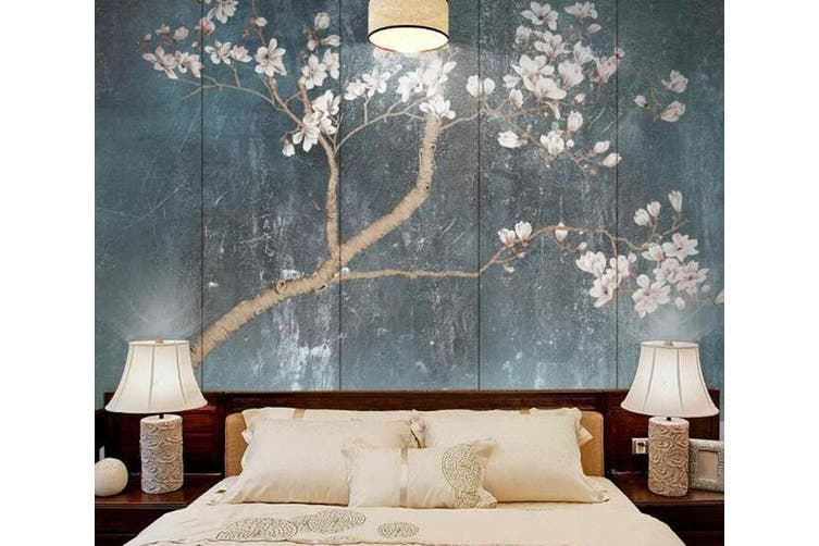 3D Branch Flower 916 Wall Murals Self-adhesive Vinyl, XXL 312cm x 219cm (WxH)(123''x87'')