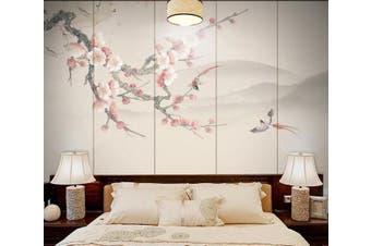 3D Branch Plum 914 Wall Murals Woven paper (need glue), XXXL 416cm x 254cm (WxH)(164''x100'')