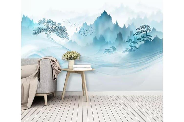 3D Misty Valley 913 Wall Murals Woven paper (need glue), XL 208cm x 146cm (WxH)(82''x58'')
