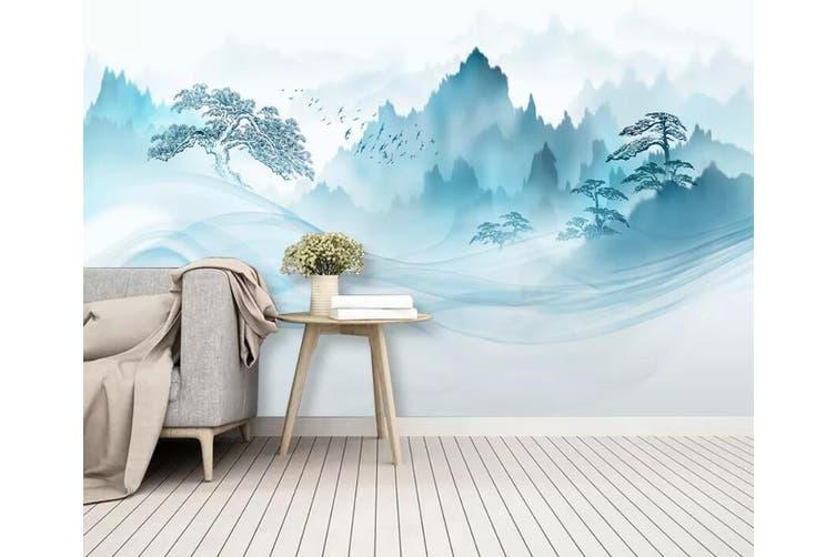 3D Misty Valley 913 Wall Murals Self-adhesive Vinyl, XXXXL 520cm x 290cm (WxH)(205''x114'')