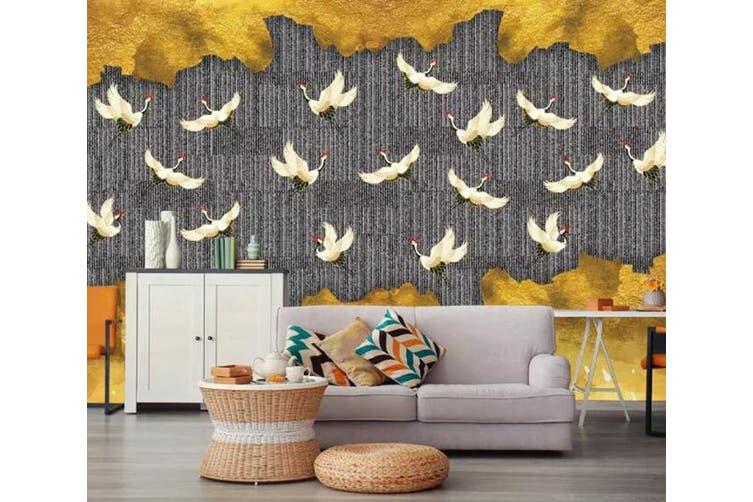 3D White Bird 907 Wall Murals Woven paper (need glue), XXXXL 520cm x 290cm (WxH)(205''x114'')