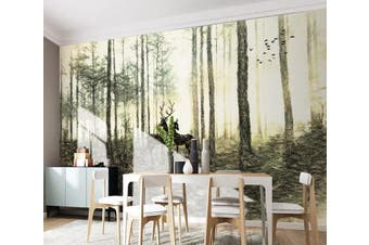 3D Forest 866 Wall Murals Woven paper (need glue) Wallpaper Murals