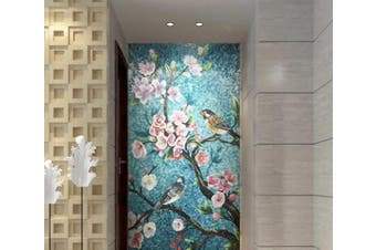 3D Bird Flowers WC284 Wall Murals Self-adhesive Vinyl Wallpaper Murals