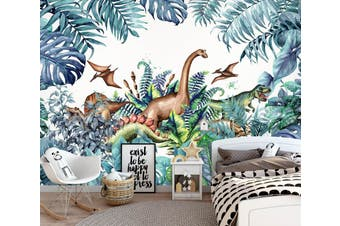 3D Forest Dinosaur 1687 Wall Murals Woven paper (need glue) Wallpaper Murals
