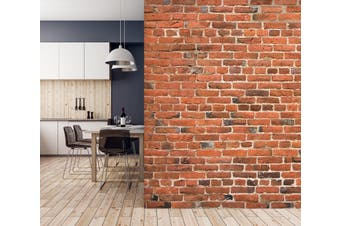 3D Brick Wall Red 019 Wall Murals Self-adhesive Vinyl Wallpaper Murals