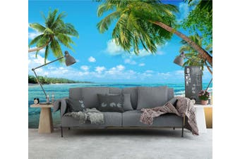 3D Wave Beach 27 Wall Murals Woven paper (need glue) Wallpaper Murals