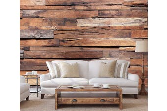 3D Wood Grain 20 Wall Murals Woven paper (need glue) Wallpaper Murals