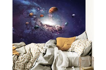 3D Galaxy Planet 034 Wall Murals Woven paper (need glue) Wallpaper Murals