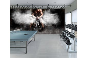 3D Fitness Activities 098 Wall Murals Woven paper (need glue), XL 208cm x 146cm (WxH)(82''x58'')