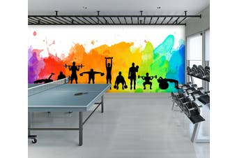 3D Color Movement 097 Wall Murals Woven paper (need glue), XXL 312cm x 219cm (WxH)(123''x87'')