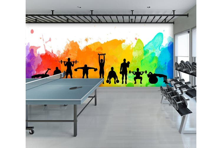 3D Color Movement 097 Wall Murals Woven paper (need glue), XXXL 416cm x 254cm (WxH)(164''x100'')