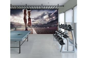 3D Sports Footsteps 092 Wall Murals Self-adhesive Vinyl, XXXXL 520cm x 290cm (WxH)(205''x114'')