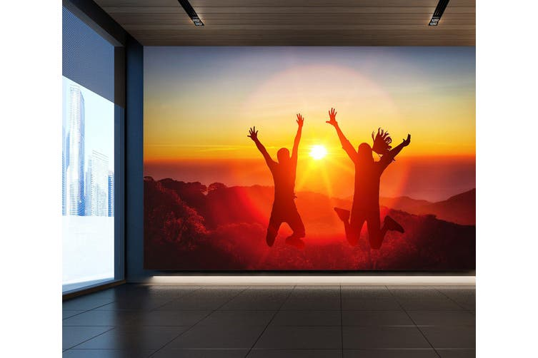 3D Jumping Posture 091 Wall Murals Woven paper (need glue), XL 208cm x 146cm (WxH)(82''x58'')