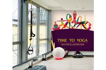 3D Yoga Time 090 Wall Murals Self-adhesive Vinyl, XXXL 416cm x 254cm (WxH)(164''x100'')