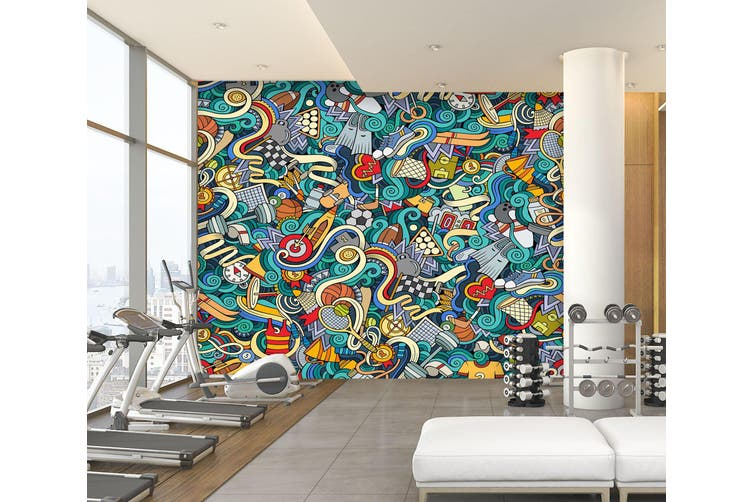 3D Color Painting 087 Wall Murals Woven paper (need glue), XXXL 416cm x 254cm (WxH)(164''x100'')