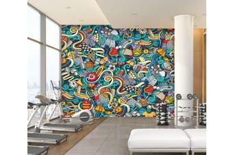 3D Color Painting 087 Wall Murals Self-adhesive Vinyl, XL 208cm x 146cm (WxH)(82''x58'')