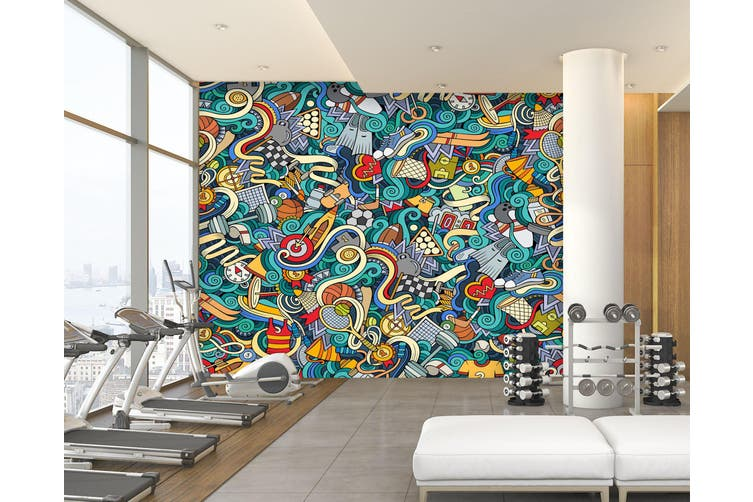 3D Color Painting 087 Wall Murals Self-adhesive Vinyl, XXL 312cm x 219cm (WxH)(123''x87'')