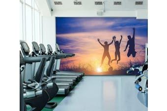 3D Sunset Jump 086 Wall Murals Woven paper (need glue), XL 208cm x 146cm (WxH)(82''x58'')