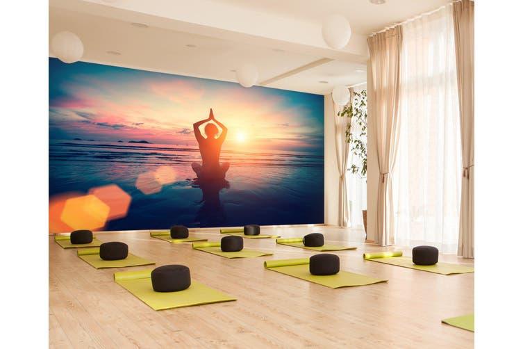 3D Lady Yoga 085 Wall Murals Self-adhesive Vinyl, XXL 312cm x 219cm (WxH)(123''x87'')