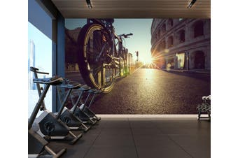 3D Sunset Bike 082 Wall Murals Self-adhesive Vinyl, XXXXL 520cm x 290cm (WxH)(205''x114'')