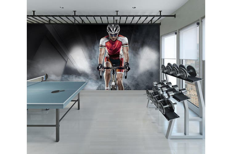 3D Cycling 079 Wall Murals Self-adhesive Vinyl, XXXL 416cm x 254cm (WxH)(164''x100'')