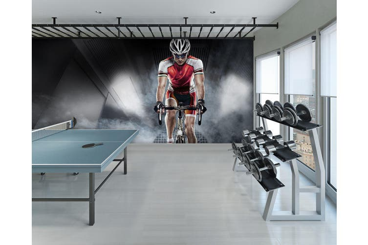 3D Cycling 079 Wall Murals Self-adhesive Vinyl, XXXXL 520cm x 290cm (WxH)(205''x114'')