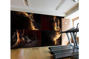 3D Fat Burning 078 Wall Murals Self-adhesive Vinyl, XL 208cm x 146cm (WxH)(82''x58'')