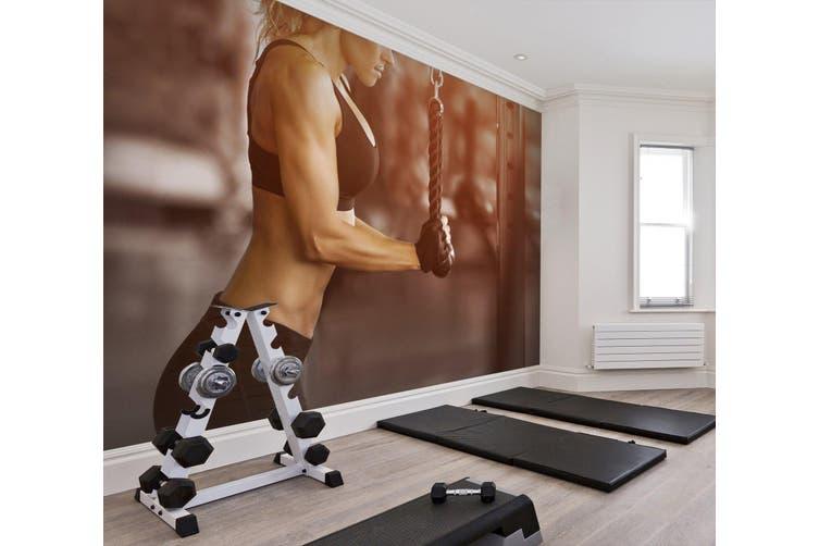 3D Lady Fitness 073 Wall Murals Woven paper (need glue), XL 208cm x 146cm (WxH)(82''x58'')