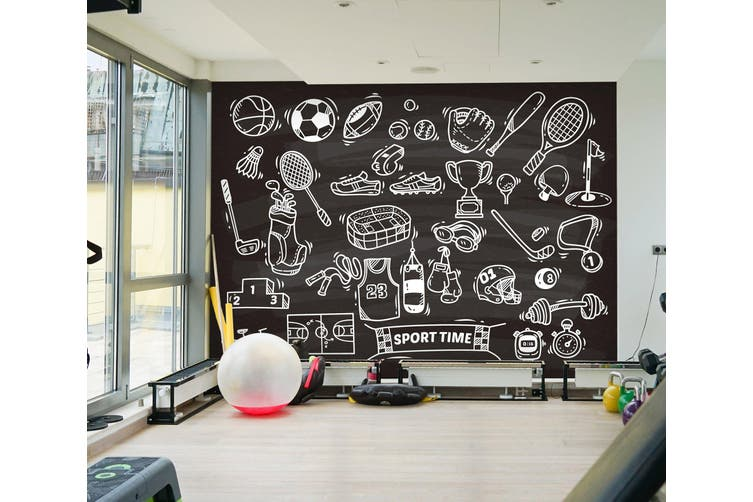 3D Sports Tool 072 Wall Murals Self-adhesive Vinyl, XL 208cm x 146cm (WxH)(82''x58'')