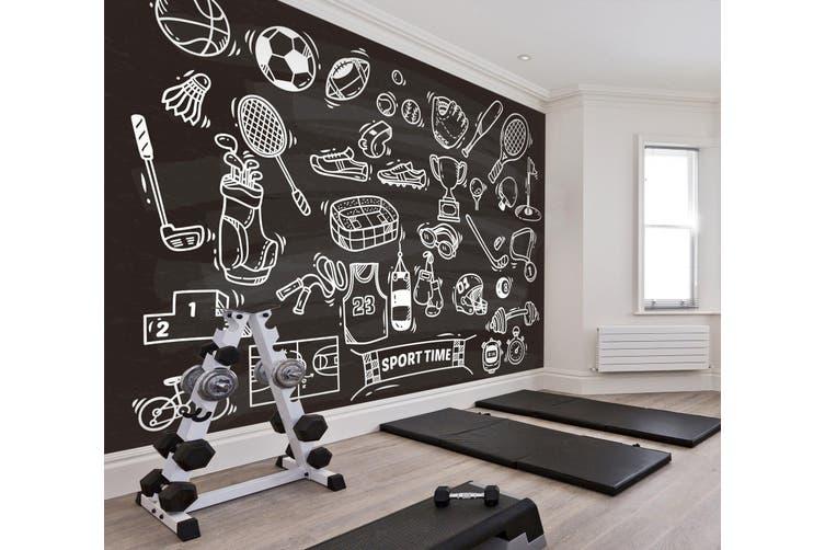 3D Sports Tool 072 Wall Murals Self-adhesive Vinyl, XXL 312cm x 219cm (WxH)(123''x87'')