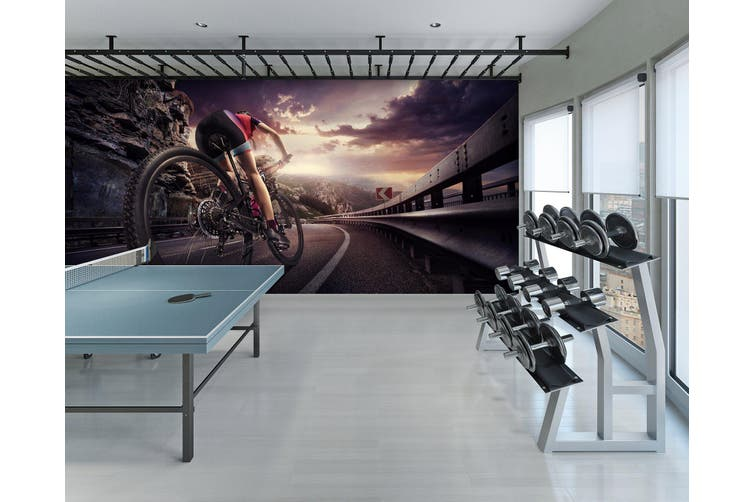 3D Ride A Bike 071 Wall Murals Self-adhesive Vinyl, XL 208cm x 146cm (WxH)(82''x58'')