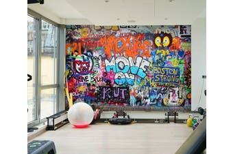 3D Colored Letters 066 Wall Murals Woven paper (need glue), XXL 312cm x 219cm (WxH)(123''x87'')