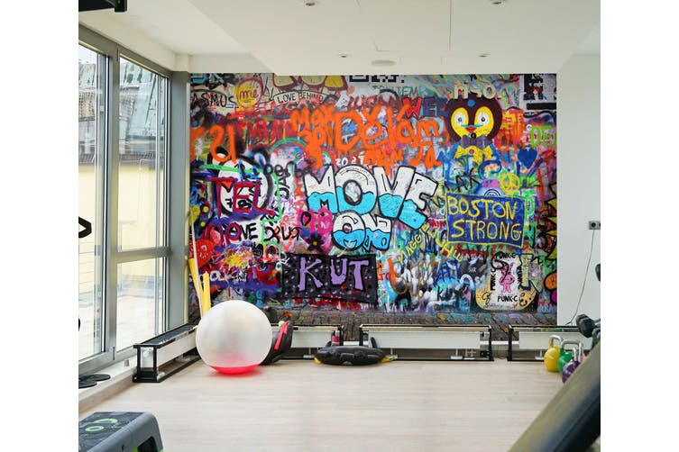 3D Colored Letters 066 Wall Murals Self-adhesive Vinyl, XXL 312cm x 219cm (WxH)(123''x87'')