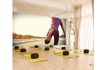 3D Stretching Movement 065 Wall Murals Self-adhesive Vinyl, XL 208cm x 146cm (WxH)(82''x58'')