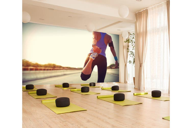 3D Stretching Movement 065 Wall Murals Self-adhesive Vinyl, XXXL 416cm x 254cm (WxH)(164''x100'')