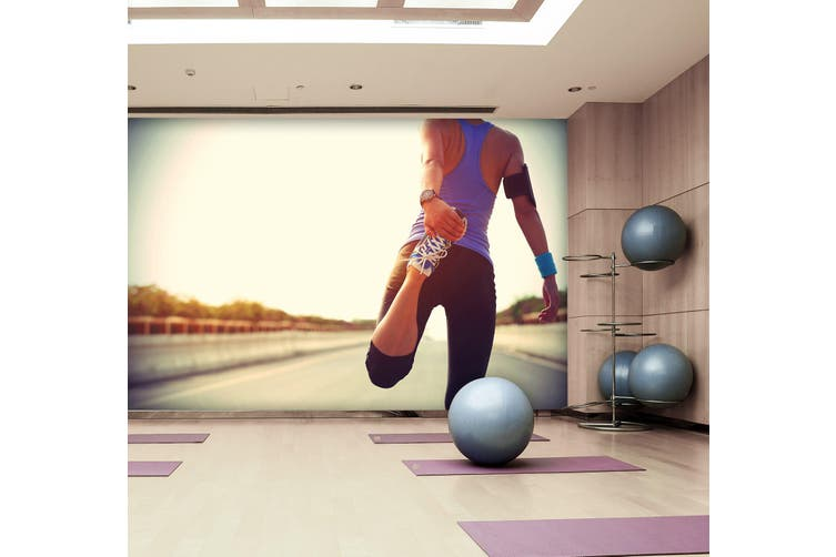 3D Stretching Movement 065 Wall Murals Self-adhesive Vinyl, XXXXL 520cm x 290cm (WxH)(205''x114'')